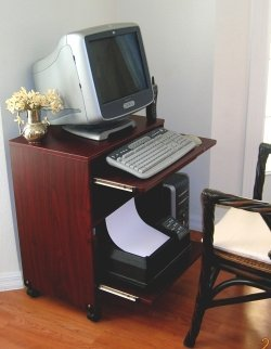 small desk for laptop and printer girlliftgear amazoncom cuzzi desks monitor mounts