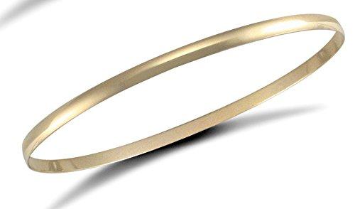 Jewellery World Bague en or jaune 9carats 3mm d-profile Bracelet jonc esclave