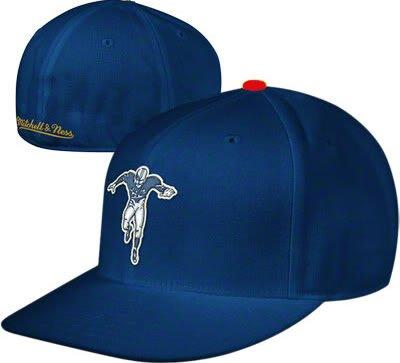 タイムリーなスタイル被る新しいYork Titans Throwback Jets帽子Mitchell & Ness FITTEDキャップサイズ7 3 / 8
