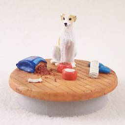 Conversation Concepts Miniature Whippet Tan & White Candle Topper Tiny One ''A Day at Home''