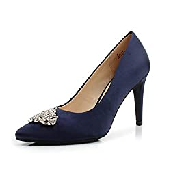 Navy Pointed Toe High Heel Stiletto Shoes