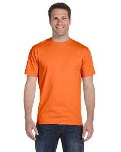 (Hanes Men's TAGLESS ComfortSoft Crewneck T-Shirt, Orange, X-Large)