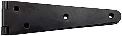 Supplied as 2 Pieces per Pack Adonai Hardware 6Daberath Black Antique Iron Double Strap Hinge Black Powder Coated
