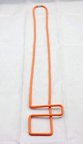 Amazon Com Baba Fashion Designer Orange Rope Necklace Geometry Geo Maze Collar Pendant Simple Costume Jewelry For Women Para Mujer Everything Else
