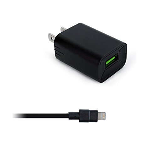 Price comparison product image New Fast Rapid Home Charger for Apple iPhone 7 7 Plus 6 6S 6+ 6S+ SE 5 5S - 6 Foot 8 Pin Cable 5v / 2.4 Amp - Black