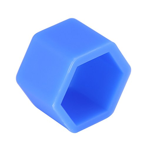 Qiilu 20Pcs ABS Wheel Lug Nut Bolt Hub Screw Cover Tyre Protective Cap Decor 321 601 173 A(Blue)