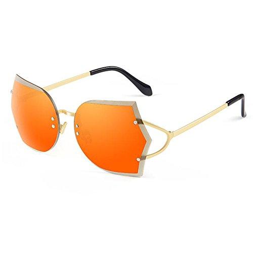 La Esencial Gafas Estrellas Al Sol Gafas De Manera Marco Ultravioleta De Que Marea De Z Las Protección Sin amp;HA El Gafas Conducen Viajes Los Mujeres Marco Aire Orange Gradientbrown Libre Eyewear De De Sin La RSn5w47q