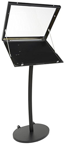 Displays2go Menu Display Stand, Cork Board, Waterproof, UV Inhibitor Lens, Wheels, Black (ODCRK598BK) by Displays2go (Image #2)