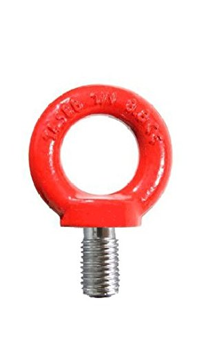 All Material Handling C80324 Eye Bolt, Metric Grade 8.8, M24 x 36 mm Thread, 8 Tons by All Material Handling