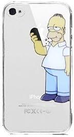 COVER IPHONE 4 4S SIMPSON HOMER MANGIA MELA MORSO ...
