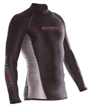 Sharkskin Men's Chillproof Long Sleeve Shirt Exposure Garment for Scuba Diving, Surfing, Snorkeling ETC. (Small)