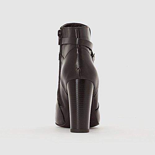 La Redoute Collection Tronchetti Da Donna In Pelle Con Cinturini Incrociati Neri Taglia 40