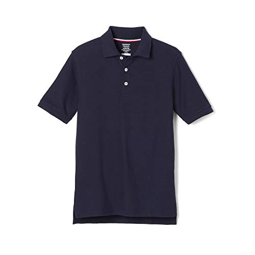 French Toast Boys' Big Short Sleeve Pique Polo Shirt Original, Navy, 12 Husky Boys Original Pique Polo Shirt