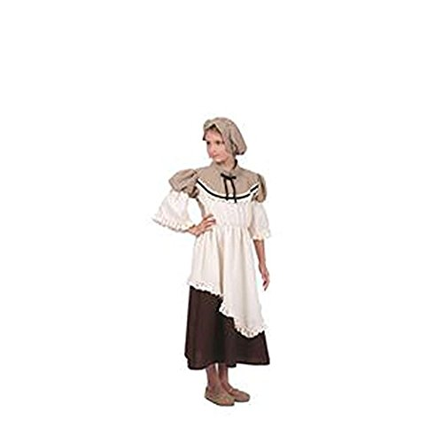 [Deluxe Colonial Peasant Girl Costume Child Small (4-6)] (Deluxe Colonial Peasant Girl Child Costumes)