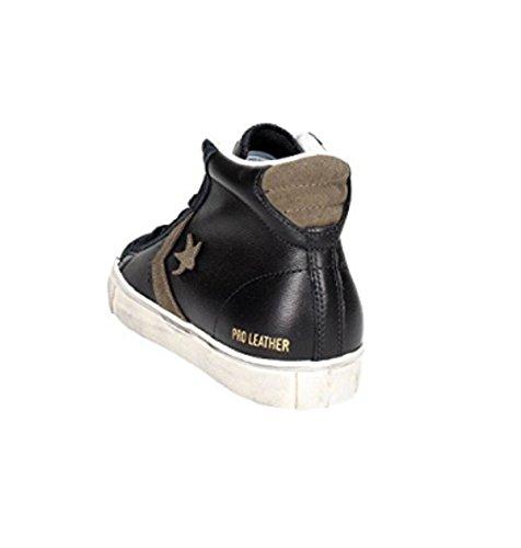 Converse Pro Leather Vulc Distressed Mid herren, wildleder, sneaker high Schwarz