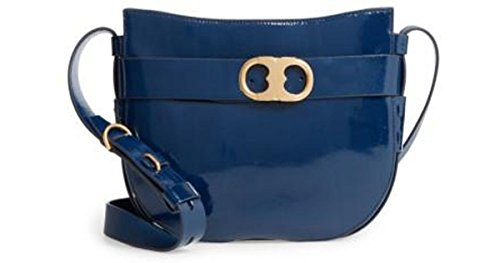 Tory Burch Cross-Body Bags – Womens Gemini Link Patent Cross-Body Midnight Swim (Midnight Swim) by Tory Burch