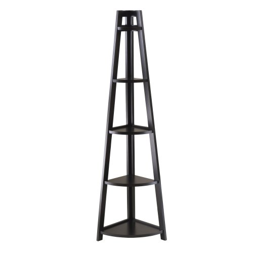 Winsome Adam 5-Tier A-Frame Corner Shelf by Winsome