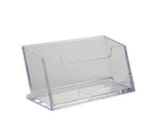 Ailisi Clear Acrylic Business Card Holder Stand Pack of 3