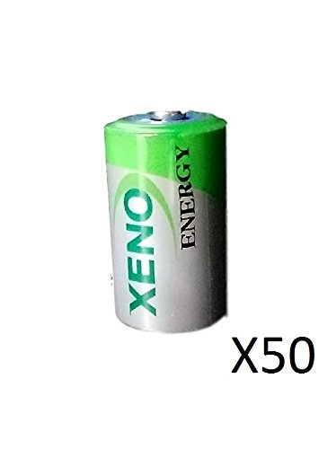 (50) XENO ER14252 1/2AA LITHIUM BATTERIES FOR TADIRAN TL-5151TL-5902 by Xeno