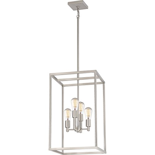 Quoizel NHR5204BN Chandelier New Harbor Foyer, Extra Large, Brushed Nickel