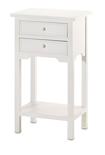 Cheap VERDUGO GIFT End Table with 2 Drawers, White