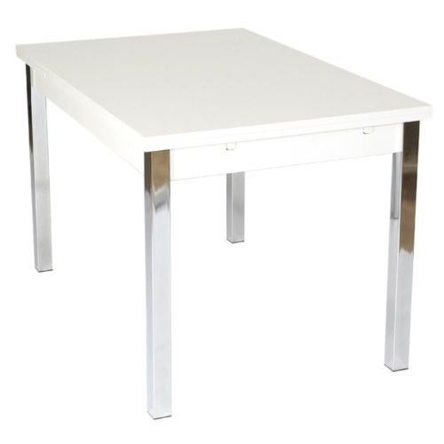 Mesa de Comedor Extensible 120 cm Ext a 187 cm), Color Blanco ...