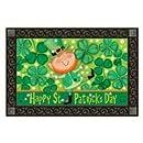 """Leprechaun Doormat St. Patrick's Day Indoor Outdoor MatMates 18"""" x 30"""""""