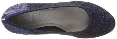 s.Oliver Women's 22405 Closed-Toe Pumps Blue (Navy Glam) 6v80YD3u1L