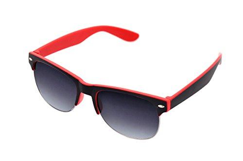 SHVAS UV Protected Wayfarer 2 colour frame Unisex Sunglasses [SGBLKRED]