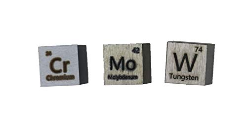 periodic table group 6 10mm metal cubes for collection or experiments