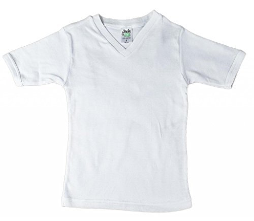 Jack 'n Jill Boys 100% Cotton V-neck T-shirt In Solid White (3 Pack) Size 16 by Jill and Jack (Image #2)
