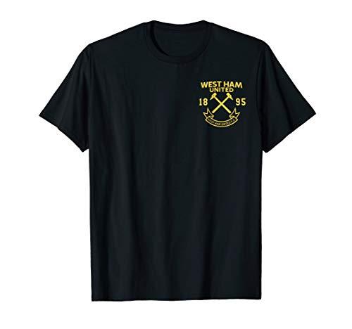 West Ham Shirt - Mens Mens West Ham United Hammer Patch T-Shirt Navy Black