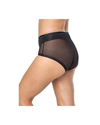 Leonisa Truly Invisible Compression Shapewear Panty with Light Slimming Tummy Control for Women Black