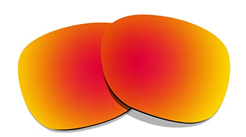 (Littlebird4 1.5mm Polarized Replacement Lenses for Oakley Garage Rock - Multiple Options (Fire Red Mirrored))