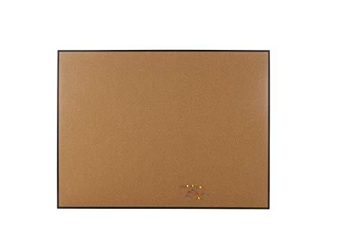 Innovart Cork Bulletin Board, Cork Board, Black Aluminum Frame 10 Pcs Colored Push Pin Included (36 x -