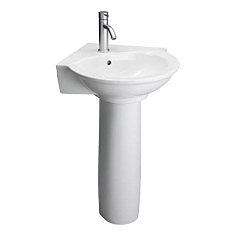 Single Hole Pedestal Sink.Barclay 3 221wh Evolution Vitreous China Pedestal Lavatory