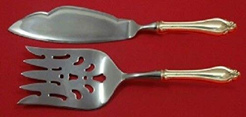 La Perle By Reed and Barton Sterling Fish Serving Set 2pc HHWS Custom (Sterling Set Serving Fish)