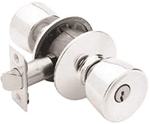 Schlage F51BEL626 Bell Keyed Entry Knob, Satin Chrome ()