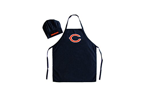 NFL Chicago Bears Chef Hat and Apron Set, Black, One Size