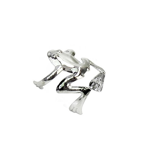 Tree Frog Ring - Amelia Fashion Non-Piercing Tree Frog Cartilage Ear Cuff 316L Stainless Steel (Silver Frog)