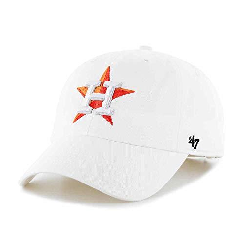 '47 MLB Houston Astros Brand White Clean Up Adjustable Hat