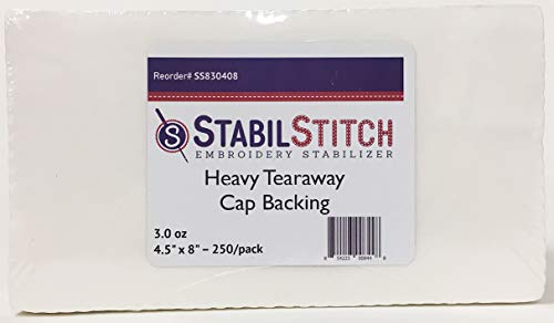 Heavy (3.0 oz.) Tearaway Cap Backing 4.5