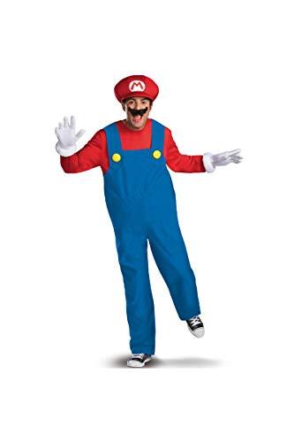 Disguise Costumes Mario Deluxe Costume, Adult, Medium (38-40