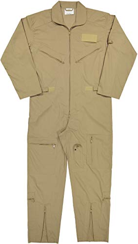 Army Universe Air Force Flight Suits, US Military Type Coveralls, Uniform Overalls/Jumpsuits Pin (Khaki, Large)