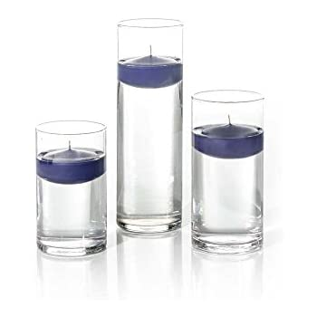 Amazon Com Set Of 3 Eastland Cylinder Vases And 3 Navy