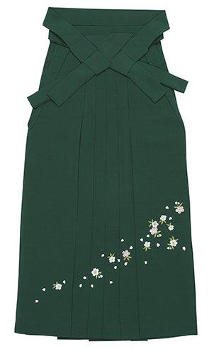 踊り衣裳 刺繍袴 席印 深緑 レディース 洗える袴