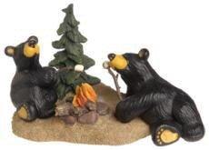 [Campfire Memories - Bearfoots Black Bear Figurine (50109)] (Big Bear Lodge)