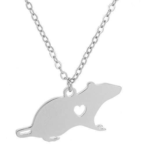 Mouse Engraved Heart Pendant