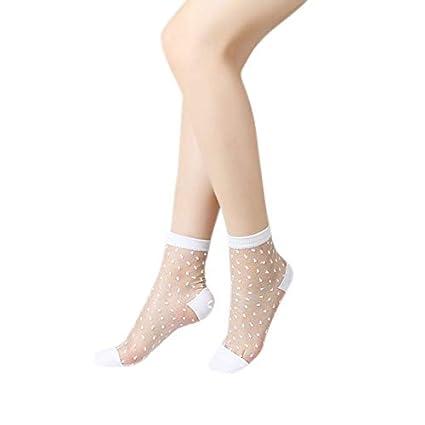 cf6c07e4b8d Amazon.com  GOP Store New Women Ladies Socks Fashion Sheer Mesh ...