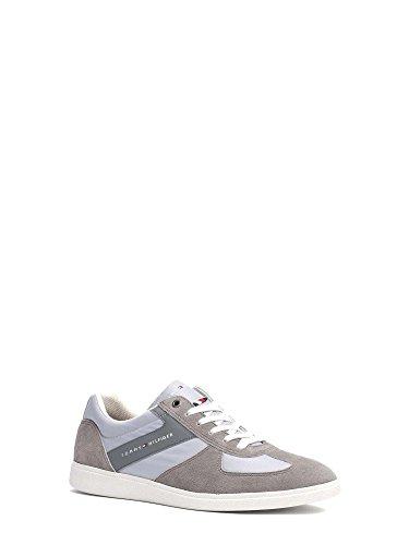 Tommy Hilfiger Sneakers Im Ledermix - light grey-steel grey Hellgrau